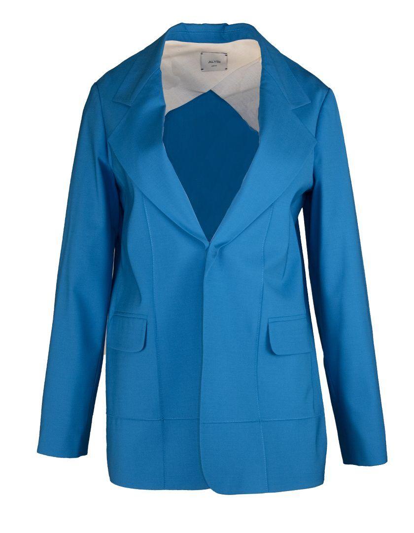 Alysi-12788-Blazer Tela lana Azul-1