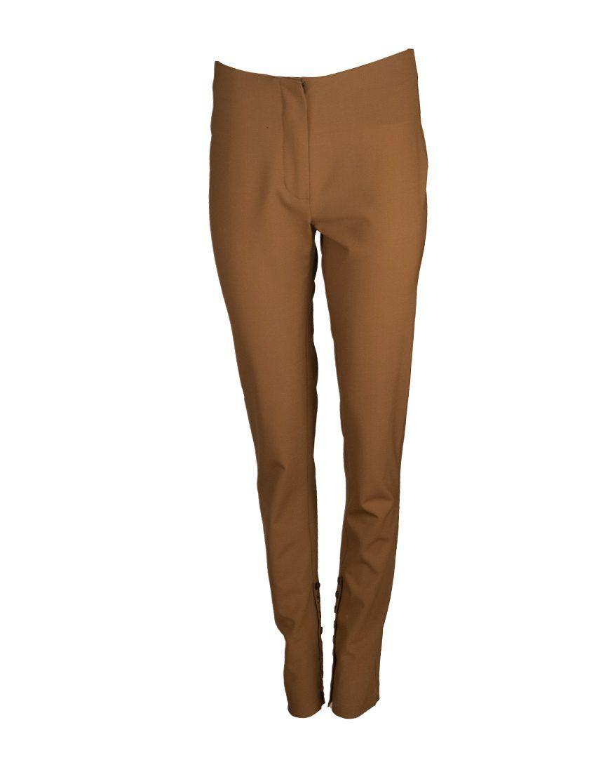 Alysi-12792-Pantalon-Tela-Lana-Caramelo-1