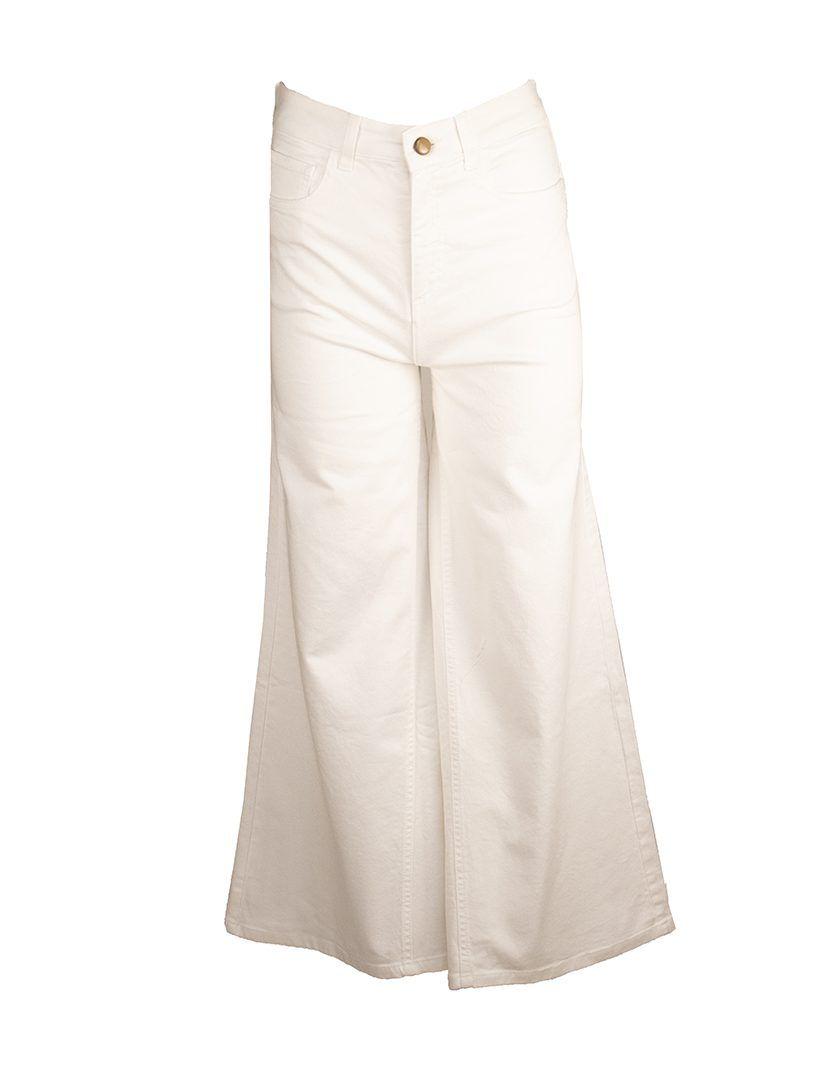 Alysi-12808-Pantalon-Cotton-Drill-Bianco-1
