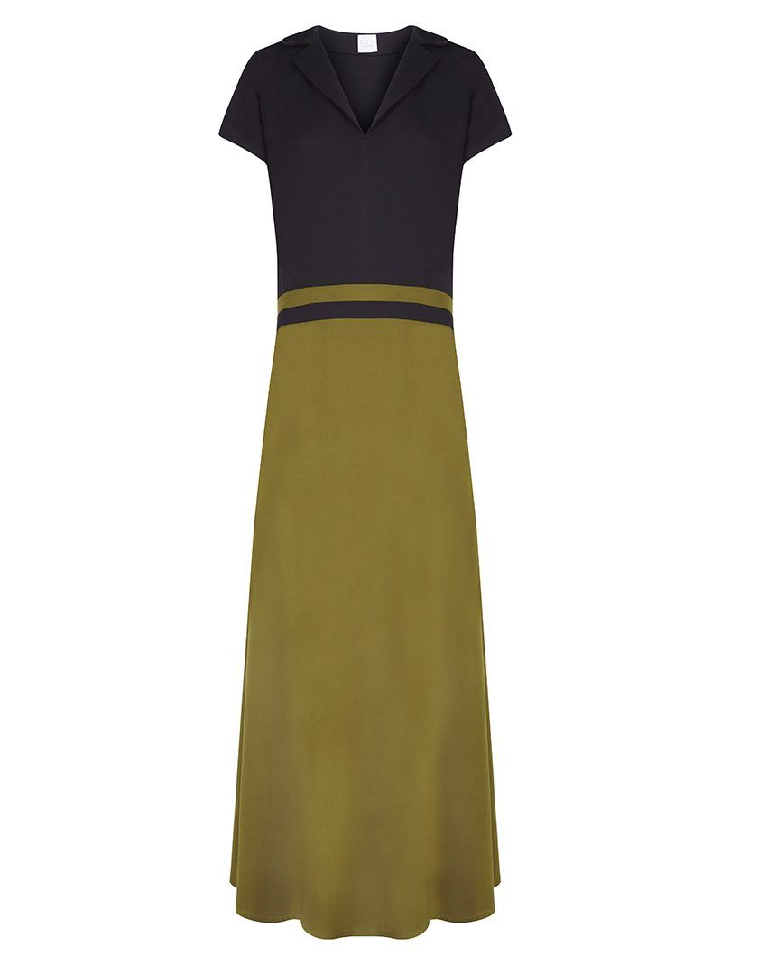 Vestido Lara Negro Verde-1