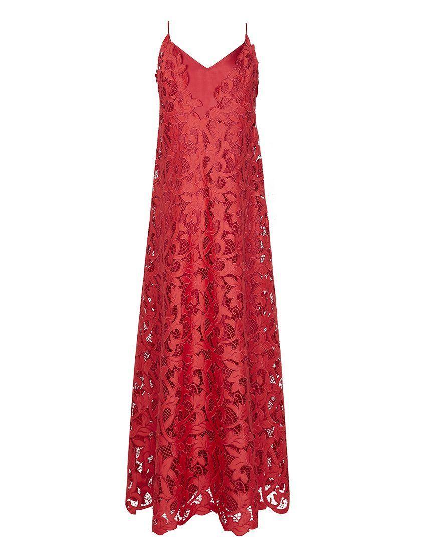 Vestido Guipur Seda Alice Rojo