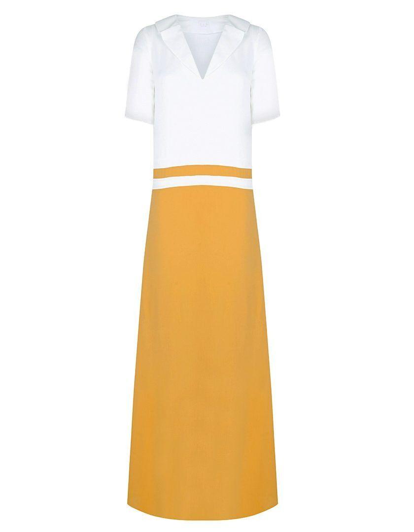 Vestido Lara Banco Amarillo-1