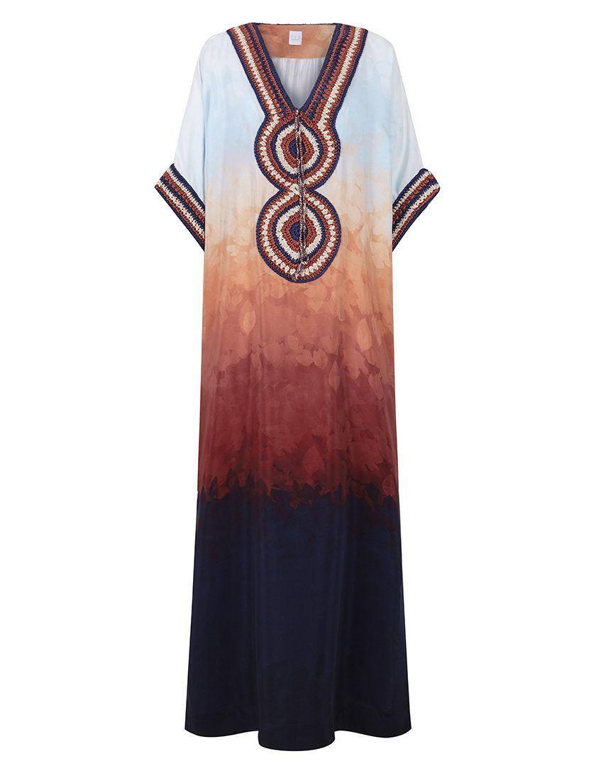 Caftán Giza TieDye Azul-1