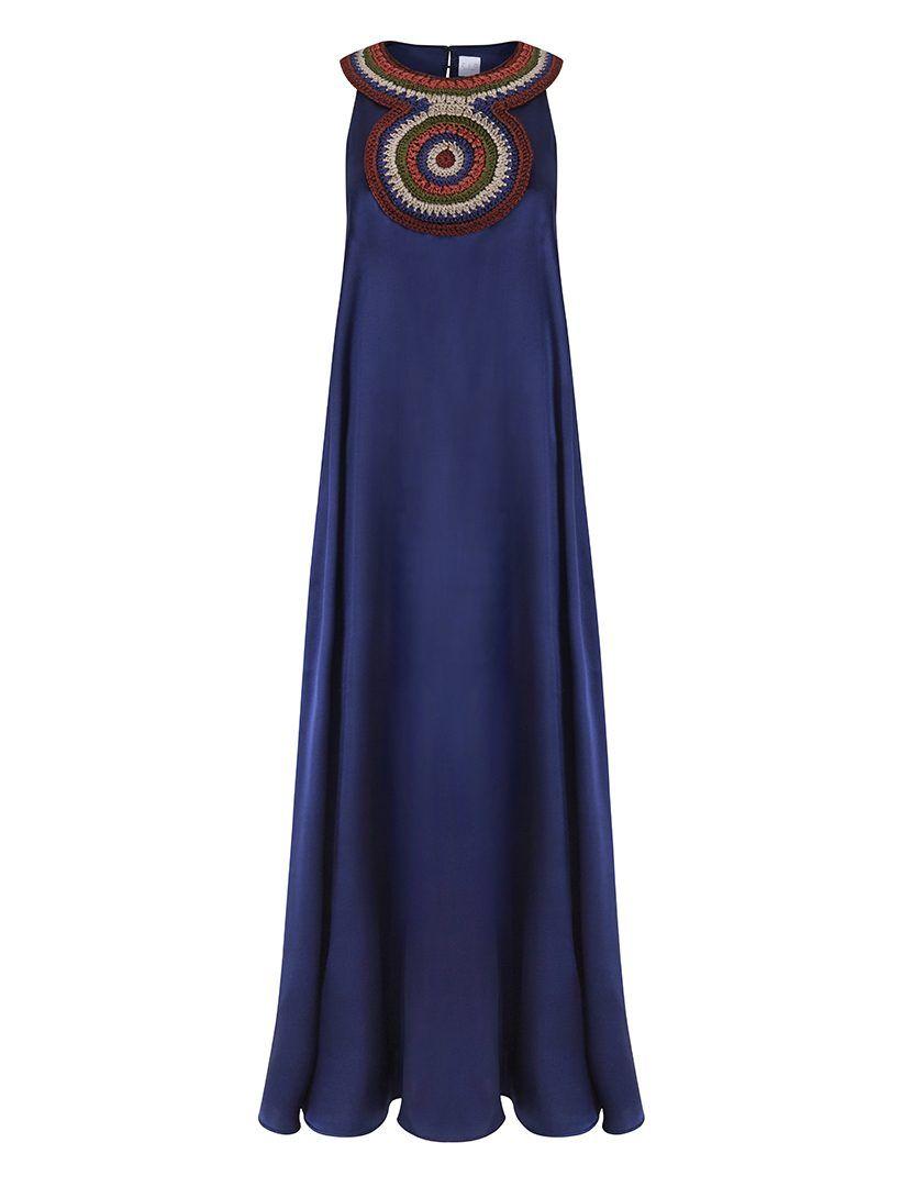 Vestido Amarna blue 1