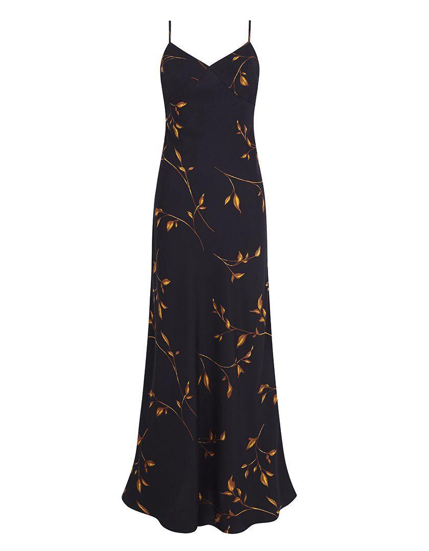Vestido Danielle Hojas Negro-1