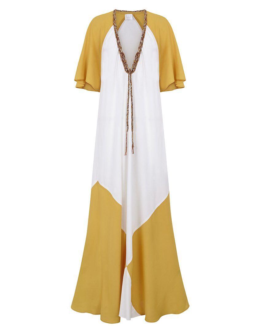 Vestido Marina Amarillo Blanco-1
