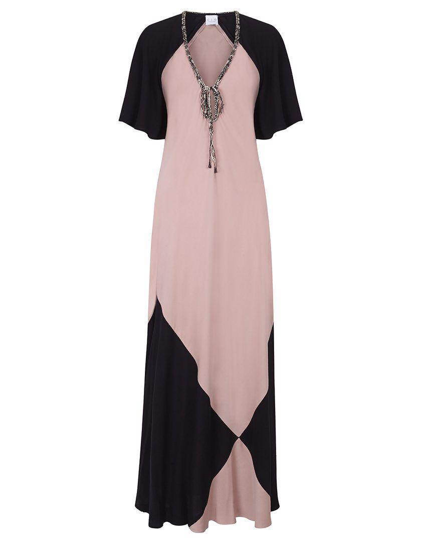 Vestido Marina Negro-Rosa-1