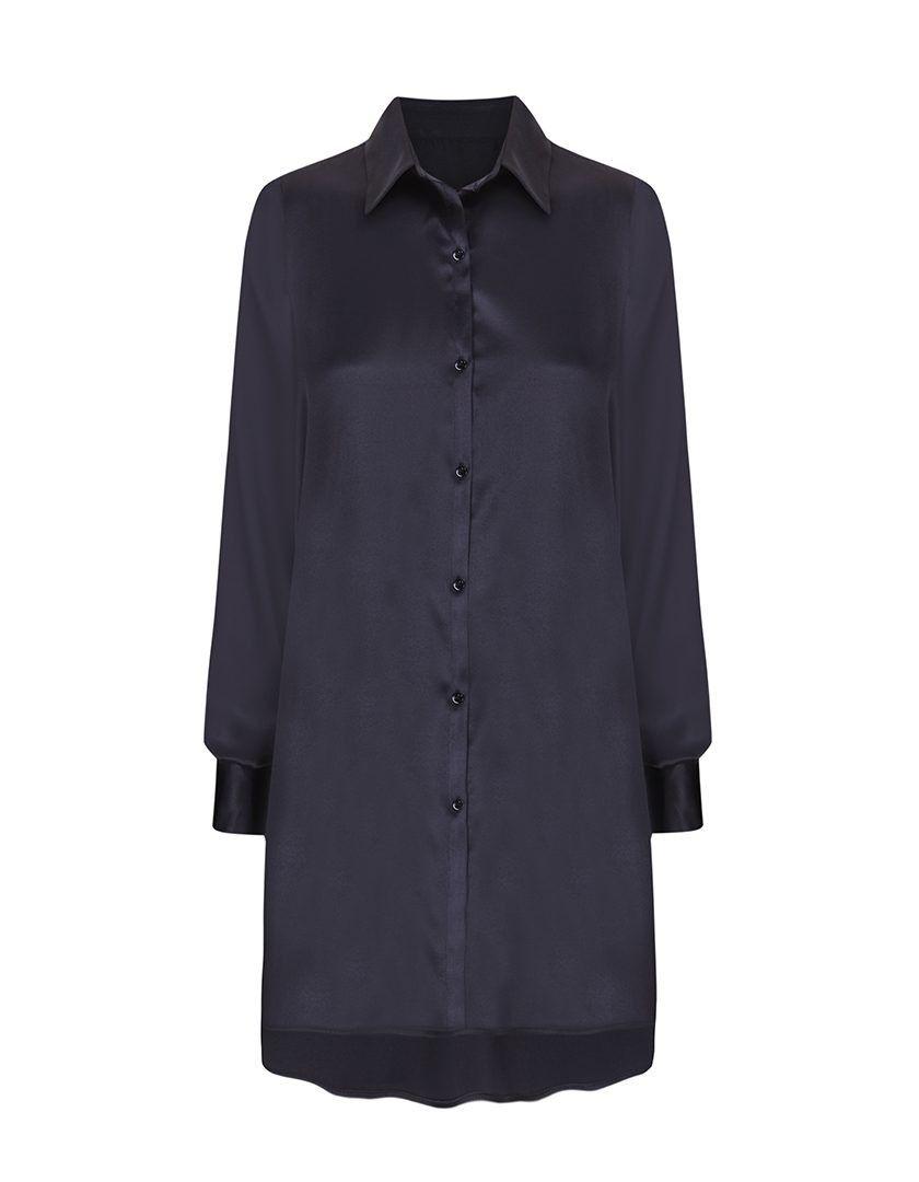 Camisa Diane Larga Negra-1